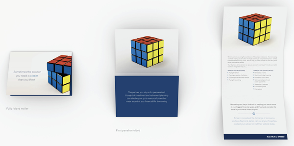 Rubik's Cube Trifold Mailer
