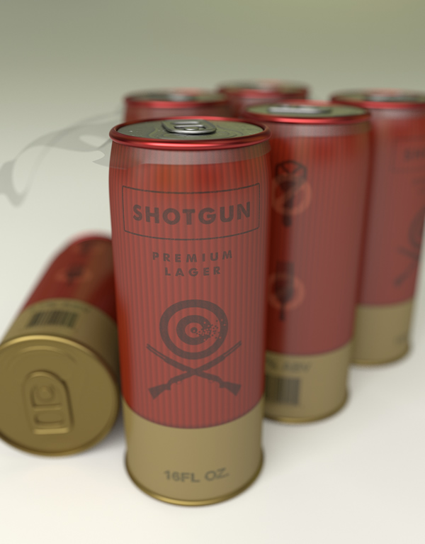 Shotgun Beer: Concept for a beer can with pull tabs on both ends
