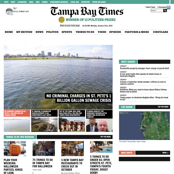 Tampa Bay Times Predesign