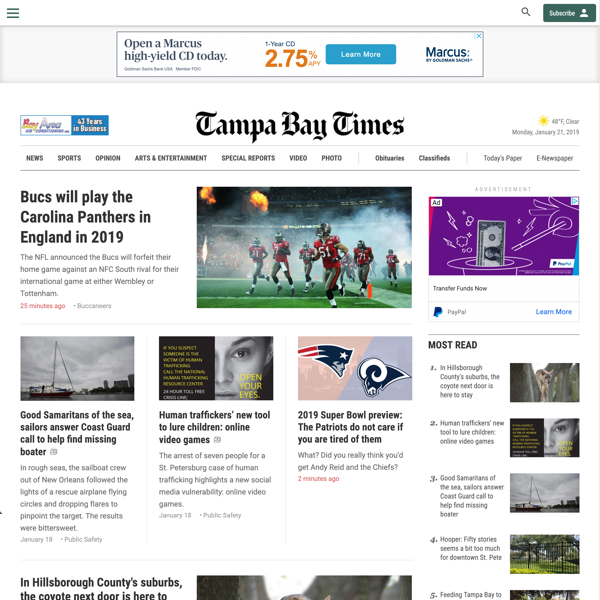 Tampa Bay Times Redesign