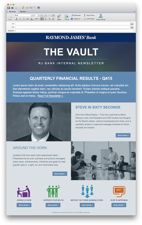 The Vault Email Template